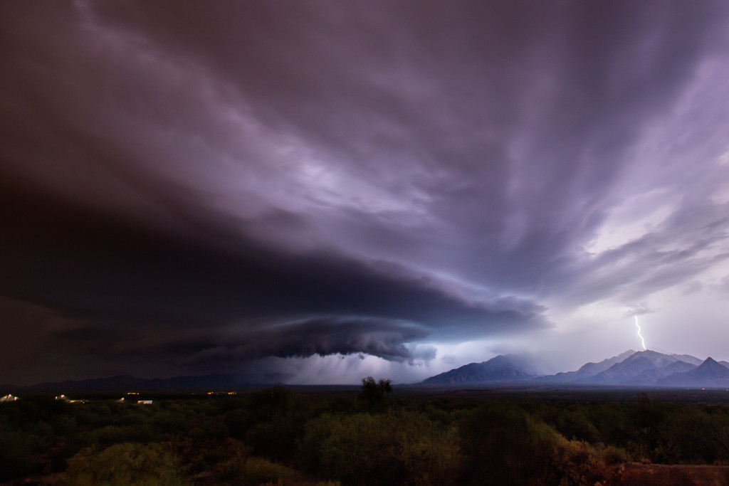 There are very few words to describe June 30th, 2015 in southern Arizona. Not only did the monsoon start early this year, but a few days into it the weather intensified, cape increased and we have some abnormally high wind shear. That turned a normal monsoon chase into what was akin to being in the central plains. I saw at least two legit supercells, including this beast that came over the Santa Rita Mountains after being tornado warned an hour before near Whetstone. A completely amazing afternoon and evening of chasing...I wont soon forget it.